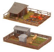 Faller N Scale Scenery Accessory Kit Allotment Garden Set #3 (Sheds/Fences/Etc.)