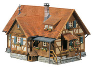 Faller N Scale Building/Structure Kit Rural Half Timbered House (Weathered)