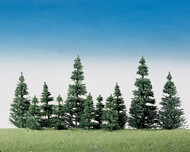 Faller Model Railroad/Train Layout Scenery Conifer Trees Silver Firs 2-4in. Tall