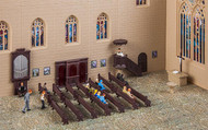 Faller HO Scale Scenery Accessory Kit Church Interior Details Pews/Organ/Pulpit