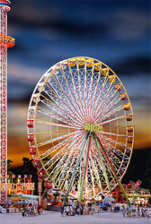 Faller HO Scale Building/Structure Kit Jupiter Ferris Wheel Carnival Ride/Motor