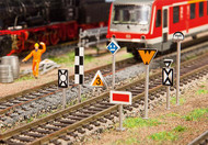 Faller HO Scale Building/Structure Kit European Railway Traffic Line Signs/Board