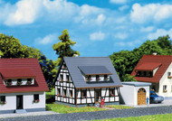 Faller Z Scale Building/Structure Kit Half-Timbered House/Home with Blue Roof