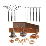 Faller Z Scale Building/Structure Kit Park Accessories/Statues/Flower Pots