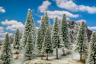 "Faller Model Railroad/Train Layout Scenery Snow-Covered Fir Trees 4 to 5.5"" Tall"