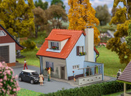 Faller HO Scale Building/Structure Kit Colonist House/Small Mid-Century Home