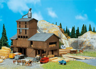 Faller N Scale Building/Structure Kit Sawmill with Wood Stacks - Weathered Model