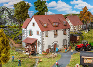 Faller HO Scale Building/Structure Kit Castle Grist Mill/Saw Mill & Water Wheel