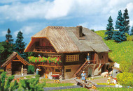 Faller HO Scale Building/Structure Kit Black Forest Farmhouse w/ Bakehouse/Wells
