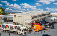 Faller HO Scale Building/Structure Kit United Parcel/UPS Logistics Warehouse