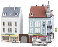 Faller HO Scale Building/Structure Kit Beethovenstrasse Two Corner Row Houses #2