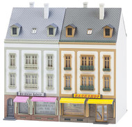 Faller HO Scale Building/Structure Kit Beethovenstrasse Two Middle Row Houses #1