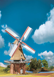 Faller HO Scale Building/Structure Kit Classic Dutch Windmill Wind Mill/Motor