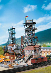 Faller N Scale Building/Structure Kit Coal/Stone/Iron Mine Head & Winch House