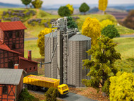 Faller N Scale Building/Structure Kit Two Modern Farm Grain Storage Silos