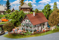 Faller HO Scale Building/Structure Kit Half-Timber Farmhouse Inn/Home/Barn