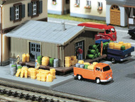 Faller N Scale Scenery Accessory Kit Assorted Freight Goods Casks/Barrels/Crates
