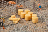 Faller N Scale Scenery Accessory Kit Hay Bales (Round/Square) 20-Pack
