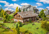 Faller N Scale Building/Structure Kit Historic Alpine Farm House/Home with Barn