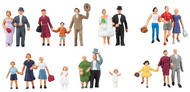 Faller HO Scale Model Figure/Peo​ple Set - Wedding Party/Bride & Groom 20-Pack
