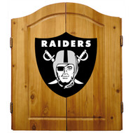 Imperial NFL Oakland Raiders Pine Wood Cabinet & Bristle Cone Dart  Board - Factory Seconds