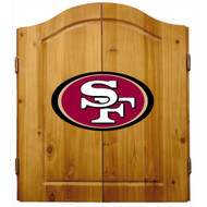 Imperial NFL San Francisco 49Ers Pine Wood Cabinet & Bristle Cone Dart Board - Factory Seconds