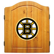 Imperial NHL Boston Bruins Pine Wood Dart Cabinet & Bristle Cone Board - Factory Seconds