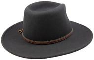 Stetson Bozeman Black Wool Crushable Cowboy Western Hat - 2XL