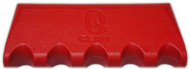 Q-Claw QCLAW Portable Pool/Billiards Cue Stick Holder/Rack - 5 Place - Red