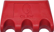 Q-Claw QCLAW Portable Pool/Billiards Cue Stick Holder/Rack - 3 Place - Red