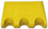Q-Claw QCLAW Portable Pool/Billiards Cue Stick Holder/Rack - 3 Place - Yellow