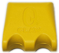 Q-Claw QCLAW Portable Pool/Billiards Cue Stick Holder/Rack - 2 Place - Yellow