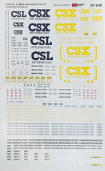 Microscale Model Railroad/Train Decals HO Scale CSX Intermodal Containers/Chassis