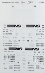Microscale Model Railroad/Train Decals HO Scale Norfolk Southern Covered Hoppers