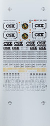 Microscale Model Railroad/Train Decals N Scale CSX/CSXT Trinity Covered Hoppers