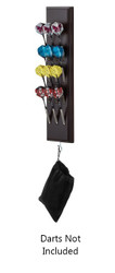 Viper 40-0703 Wall Mounted Dart Caddy Holds 12 Steel/Soft Tip - Mahogany