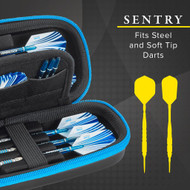 Casemaster Sentry Dart Case Holds Soft & Steel Tip & Accessories Black/Blue