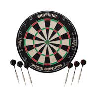 "Viper Shot King Sisal Regulation 18"" Dartboard W/6 Free Steel Tip Darts"