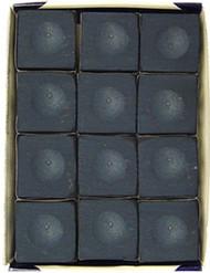 Silver Cup DARK NAVY BLUE Pool Billiard Cue Chalk (12 Pack)