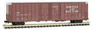 Micro-Trains MTL N-Scale 60ft Waffle-Side Box Car Norfolk & Western/NW #604508
