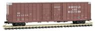 Micro-Trains MTL N-Scale 60ft Waffle-Side Box Car Norfolk & Western/NW #604508