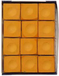 Silver Cup Orange Pool Billiard Cue Stick Chalk (12 Pack)