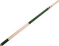 Lucasi Hybrid LUX35 Birdseye Maple/Emerald Green Stain Pool/Billiards Cue Stick