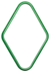 Plastic Pool/Billiard Table Standard 9 Ball Diamond Rack - Green