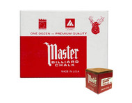 Master Billiard/Pool Cue Chalk - Gold/Tan - 1 Pack/12 Pieces