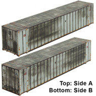 Micro-Trains MTL N-Scale 48' Ribbed Side Shipping Container CSX/Ex-UP Weathered