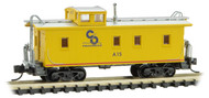 Micro-Trains MTL N-Scale 34ft Wood Sheathered Caboose Chesapeake & Ohio/C&O #A15
