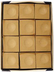Silver Cup TAN/CAMEL/BEIGE Pool Billiard Cue Chalk (12 Pack)