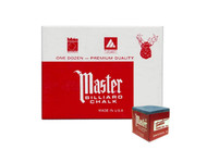 Master Billiard/Pool Cue Chalk - Sky Blue - 1 Pack/12 Pieces