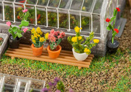 Faller HO Scale Model Railroad/Train Layout Scenery 6 Assorted Potted Plants